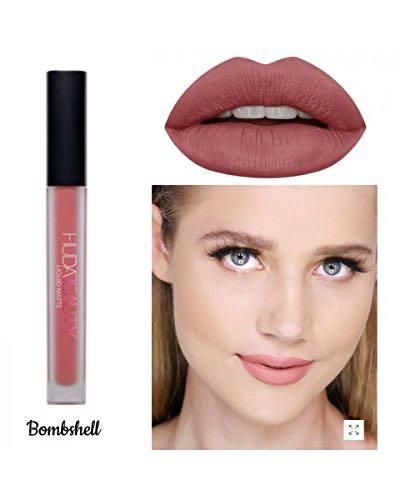 Huda Beauty liquid lipstick (shade: bombshell)