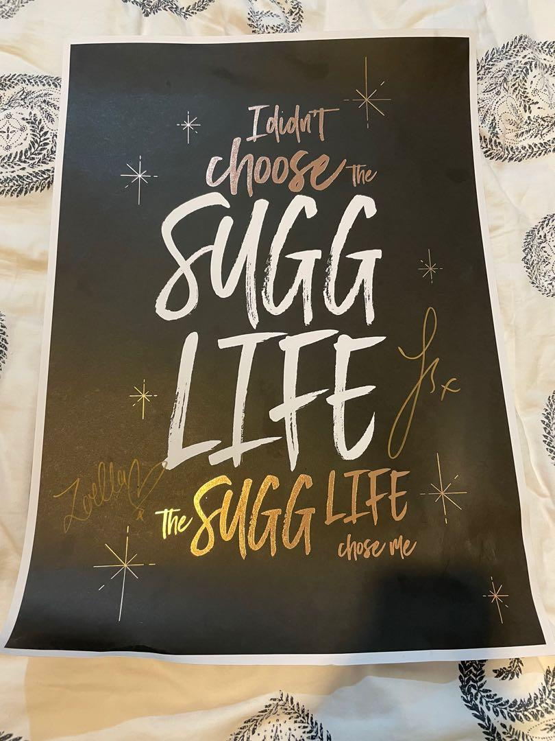 Joe Sugg and Zoella poster SIGNED