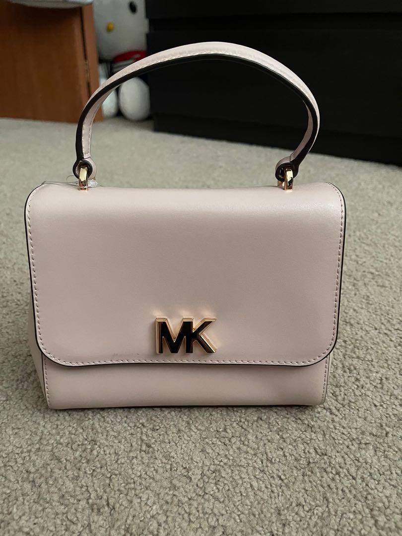 Michael Kors soft pink satchel leather