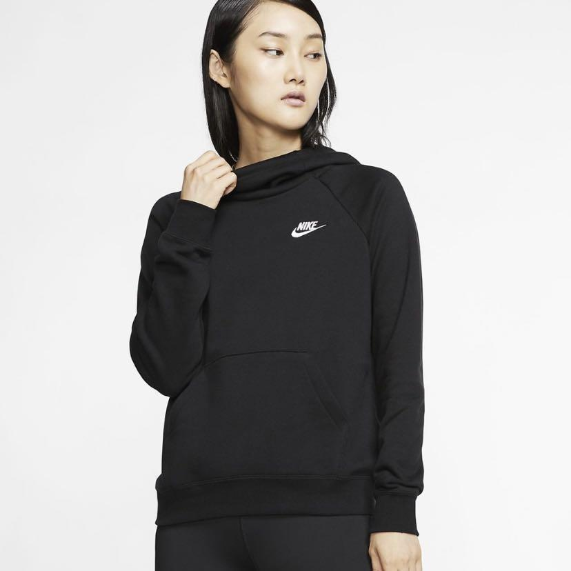 Nike Funnel Neck Hoodie Black Size Small