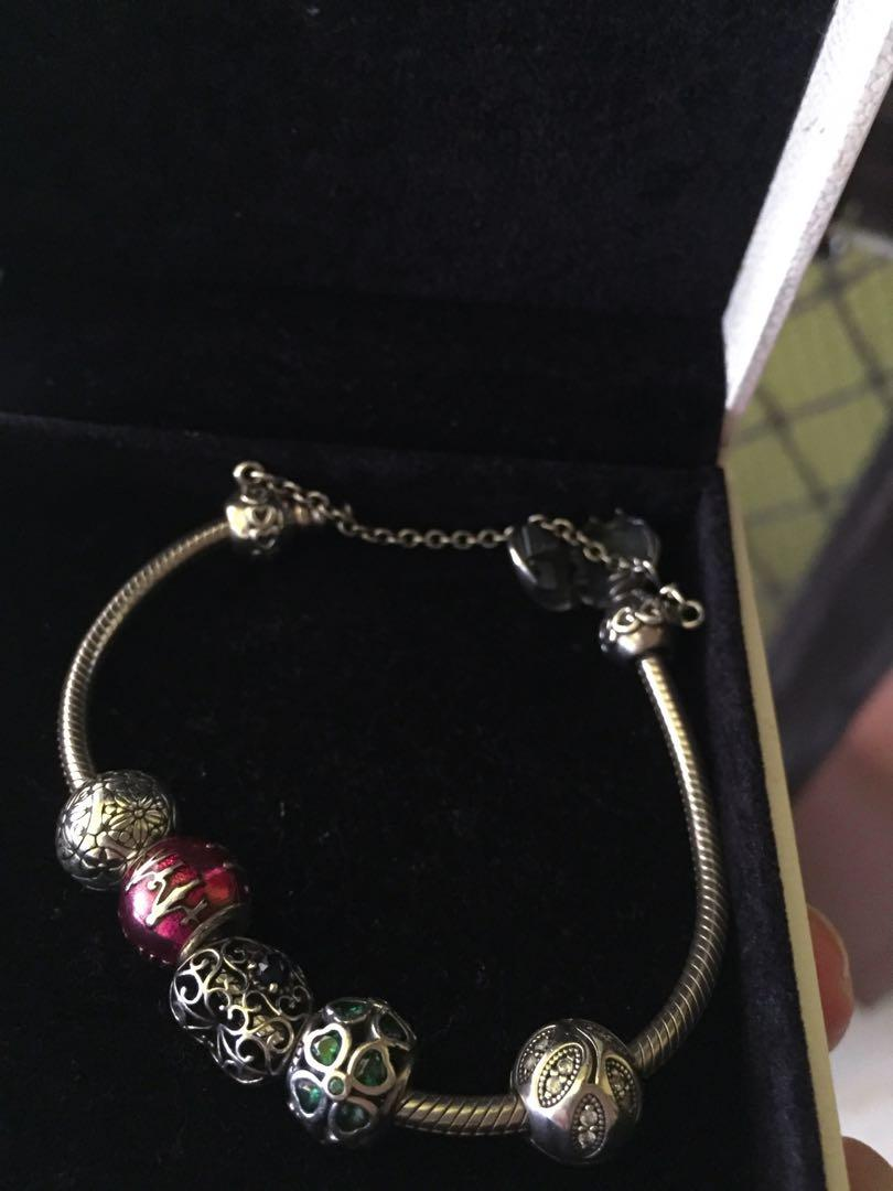 Original Complete Pandora Bracelet Package Bought In Dubai Free Cleaning To Any Pandora Outlet Women S Fashion Jewelry Organizers Bracelets On Carousell