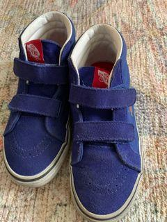 Vans Off The Wall Skateboard Shoes Velcro Strap size US 2.5 (20.5cms)