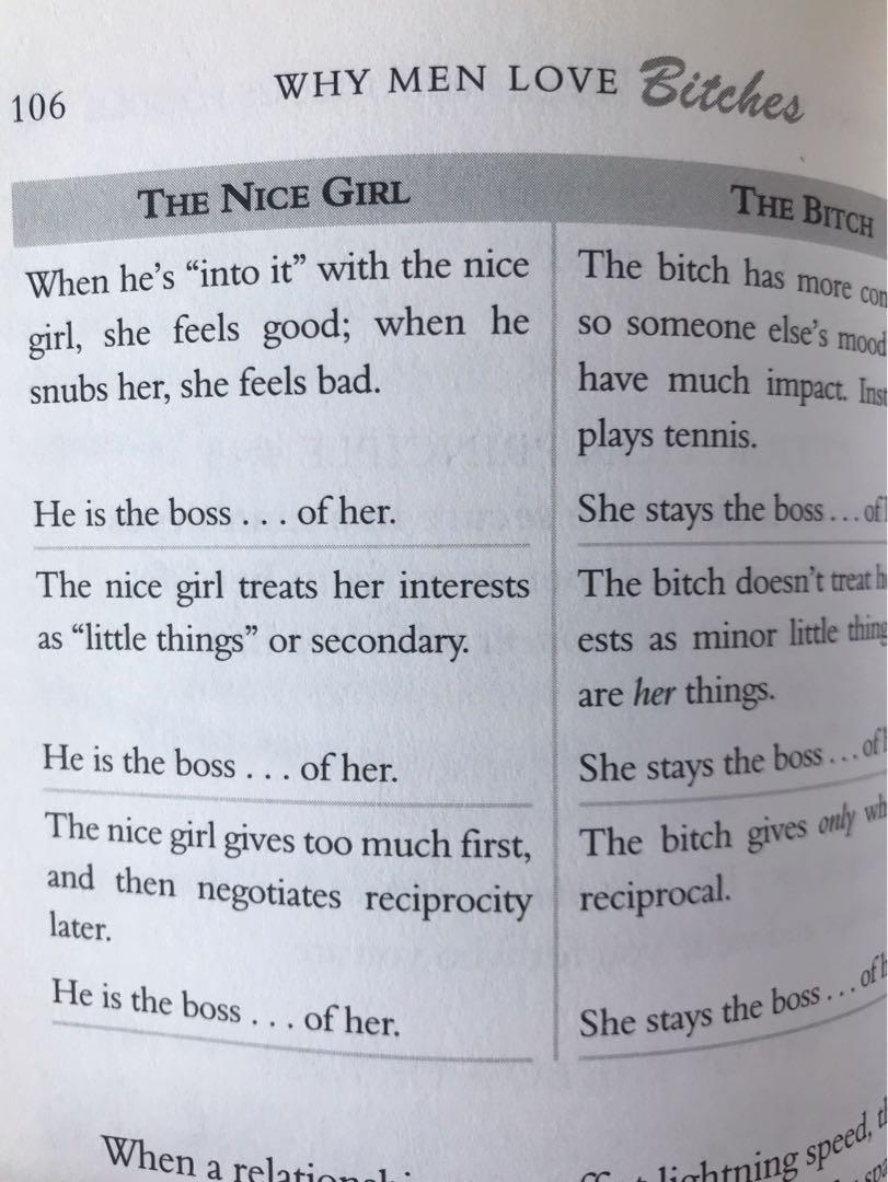 Why men love bitch book