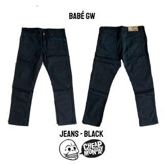 CHEAP MONDAY ORI Black Jeans Hitam