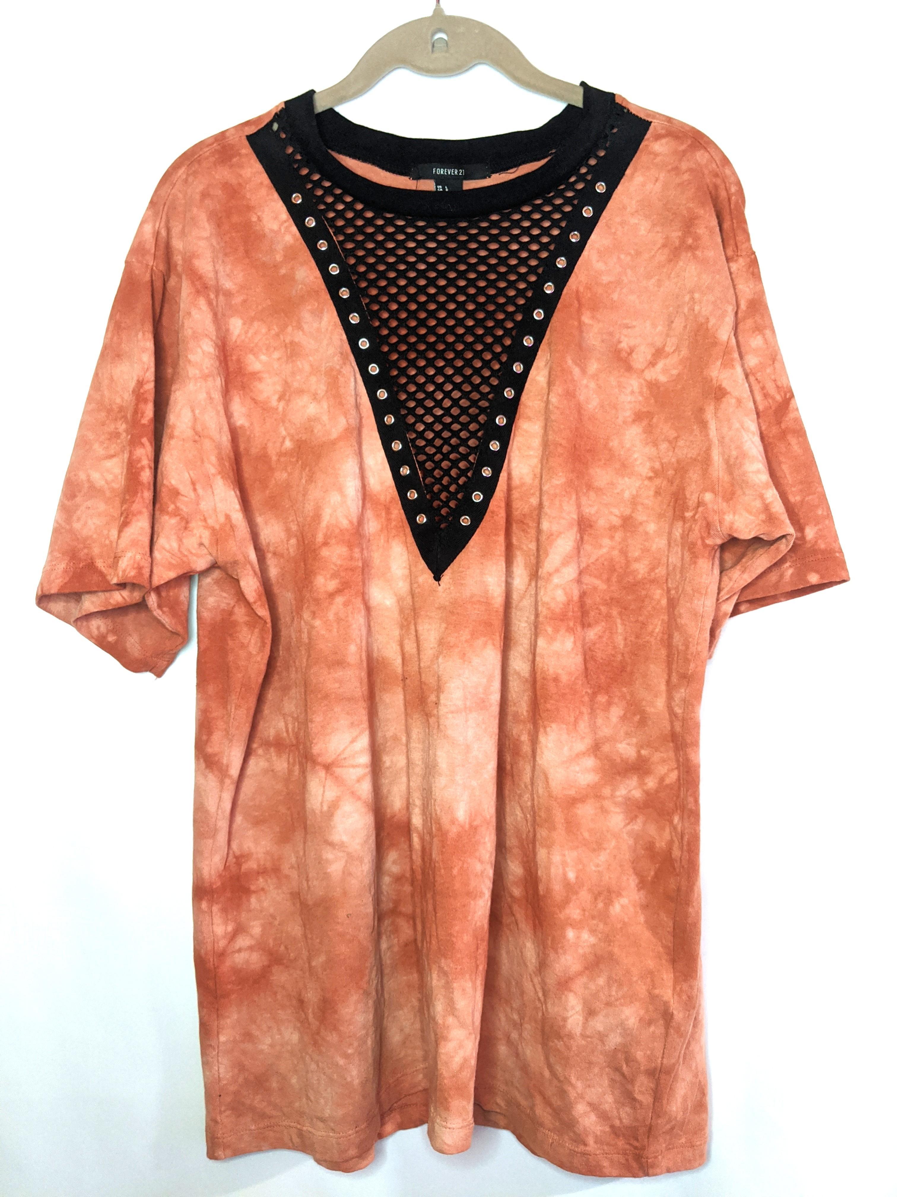 F21 tie dye/mesh top (L)