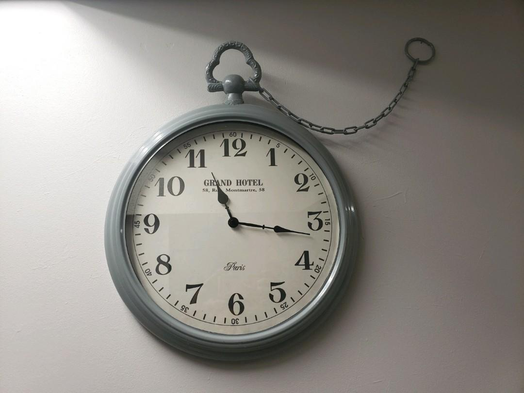 French chic large wall clock