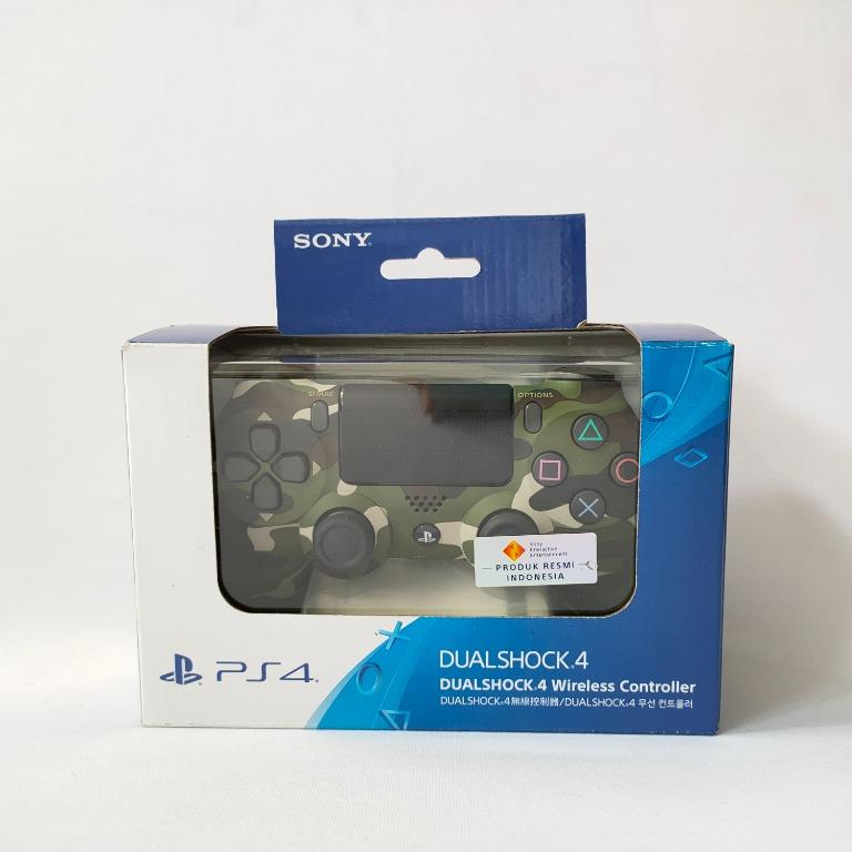 Sony Dualshock PS4 Wireless Controller - Green Camouflage