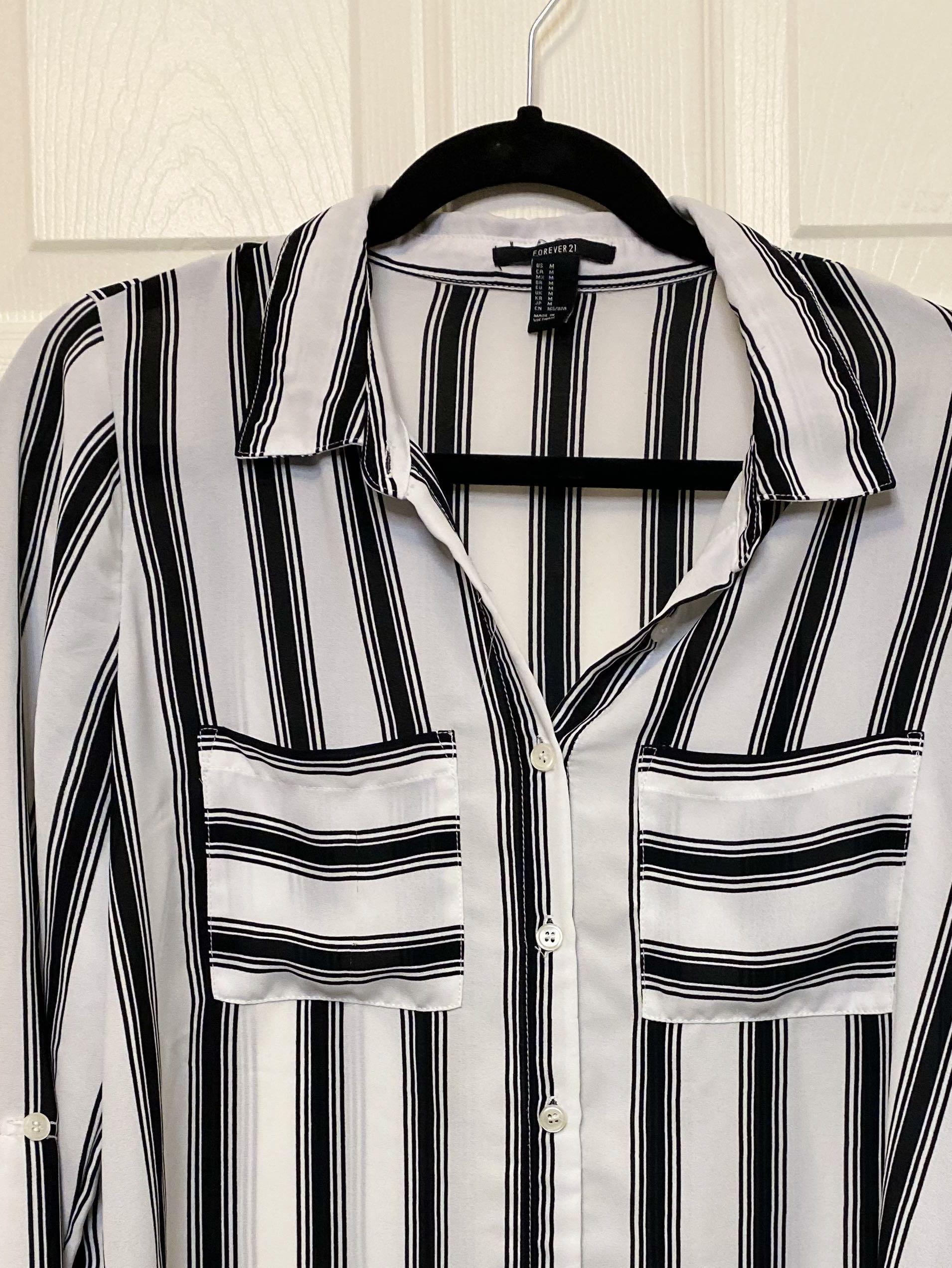 Stripe Button Up