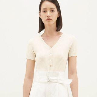 TEM Tamila Knit Top - Ivory Size S
