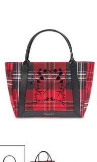 Victoria's Secret Red Plaid Tote Bag