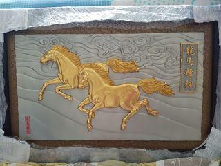 22K gold plated frame