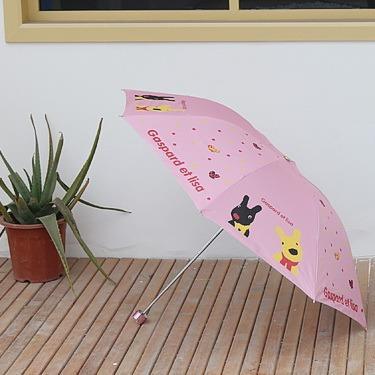 新年生日禮物台灣有現貨小新卡通圖案摺疊晴雨兩用傘防雨防曬防紫外線遮光三折傘小巧