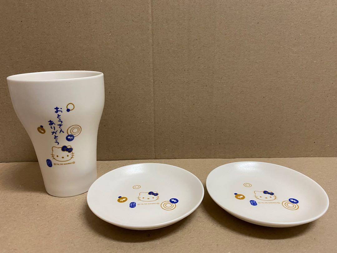 (現貨)全新 正版 日本 2005年Hello Kitty陶瓷杯盤組
