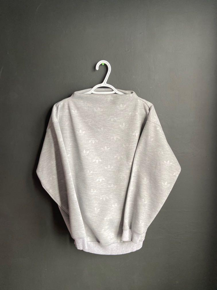 Adidas Logo Mock Neck Sweater