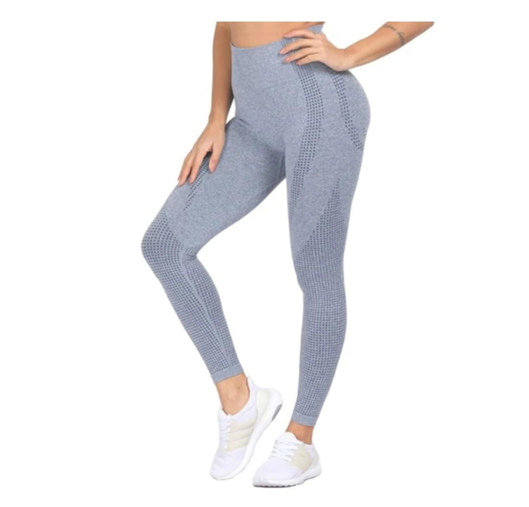 Brand new high waisted grey legging exercise yoga workout