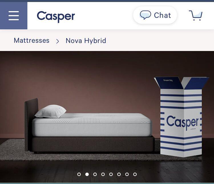 Casper mattress with frame