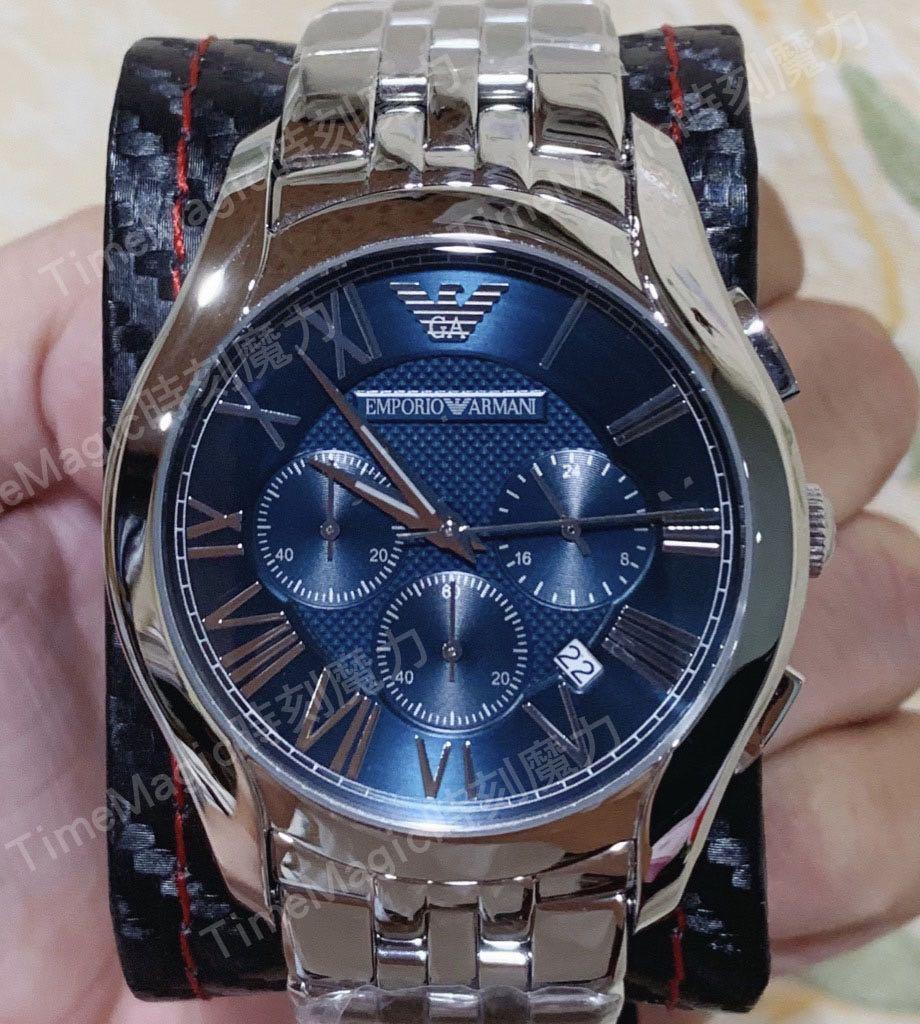 【時刻魔力】Emporio Armani 亞曼尼經典羅馬計時腕錶(AR1787)