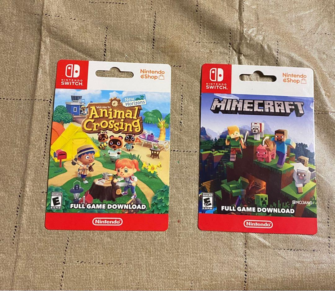 eShop Nintendo shop cards