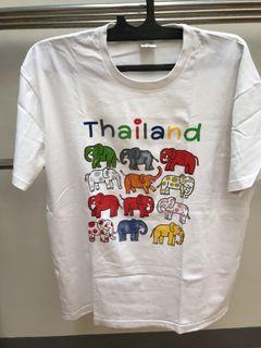 Kaos putih Thailand Gajah Lucu