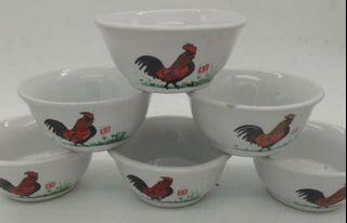 Mangkok keramik ayam jago