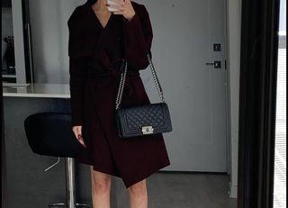 Michael Kors Burgundy Winter Dress Coat - XS