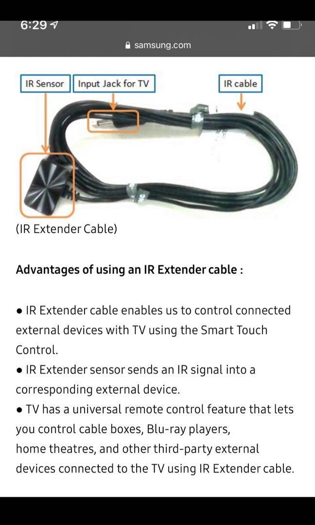 Samsung Ir extender for smart TVs