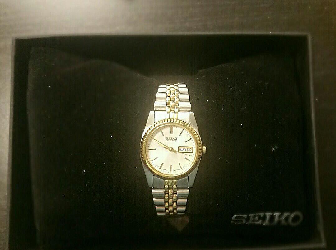 Seiko Women's SWZ054 Dress Two-Tone Silver Dial Watch
