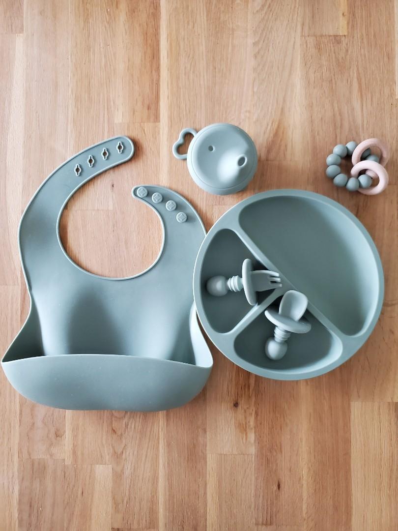 Silicone Feeding Set - Food Safe & BPA Free