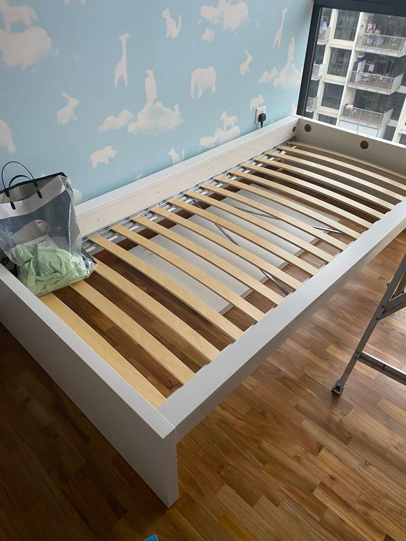 Used Only For A Week Ikea Malm Bed Frame High White90x200 Cm Furniture Beds Mattresses On Carousell