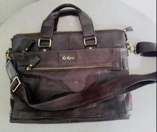 Tas kulit asli Kickers authentic leather genuine leather