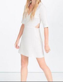 Zara White Dress - XS