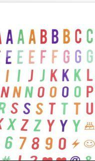 100 pcs Coloured Replacement Letters, Numbers & Signs  for A4 Light Up Box
