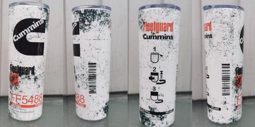 20oz Cummins fuel filter tumbler
