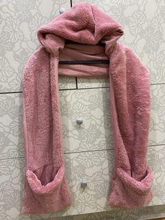 日本帶回 連帽保暖圍巾 #保暖