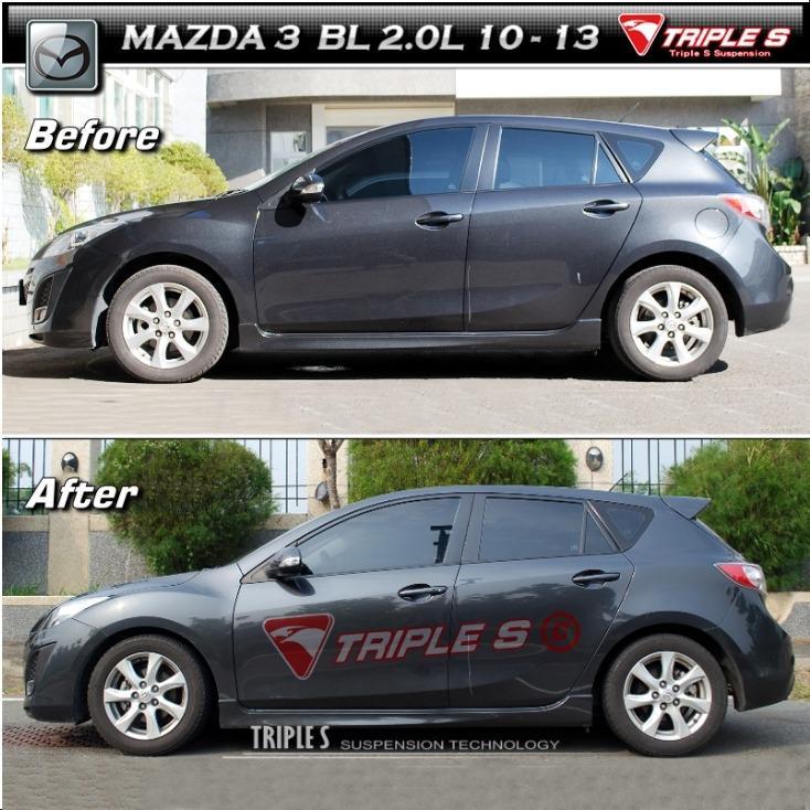 巨大車材 TS 短彈簧 MAZDA3 2.0 10-13 前降22mm 後降27mm 售價$5800 歡迎刷卡