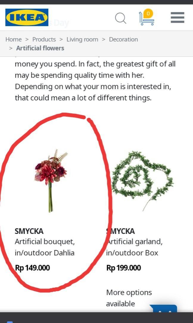 #salefeb Artificial boquet ikea