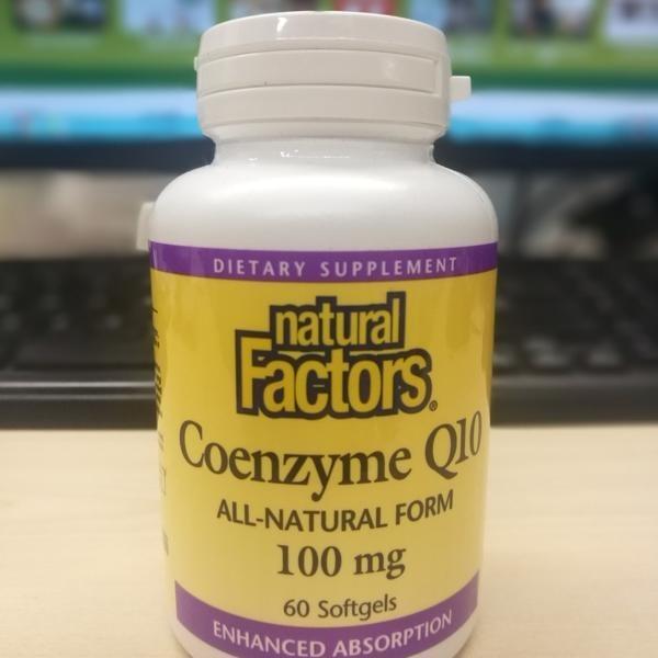 😃輔酶Coenzyme Q10 膠囊 🍁加拿大 優沛康 自然要素 Natural factors  60粒 100mg