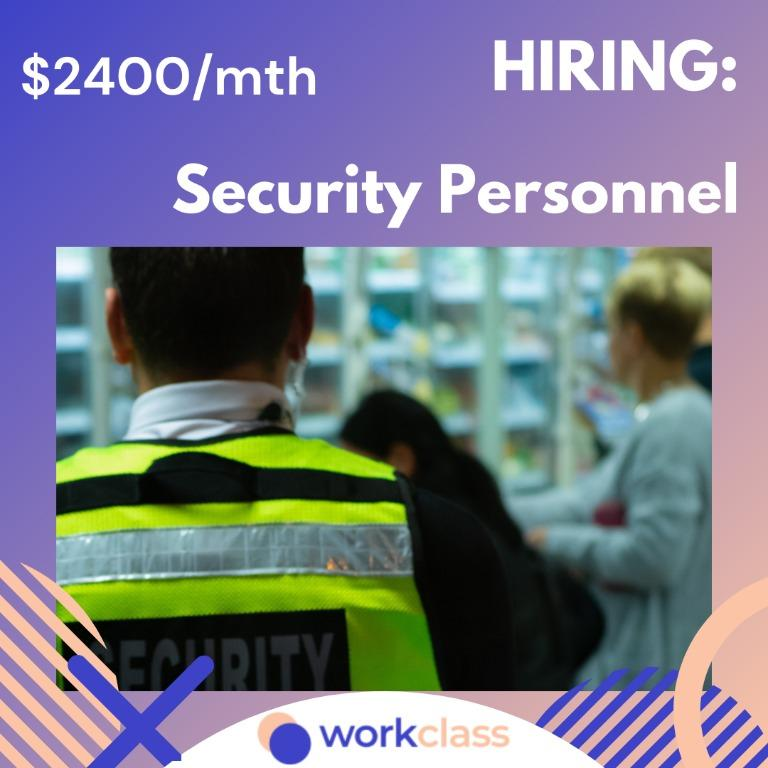 Full-Time Security @ Mall/ Gov