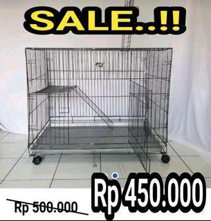Kandang kucing model tingkat size XL 90cm free ongkir COD bayar ditempat
