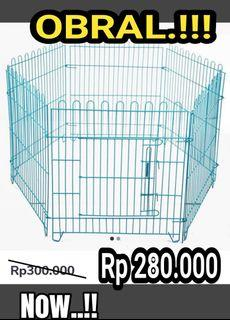 Kandang pagar kucing anjing kelinci free ongkir bayar mas