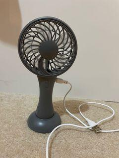 LED hand fan with charger
