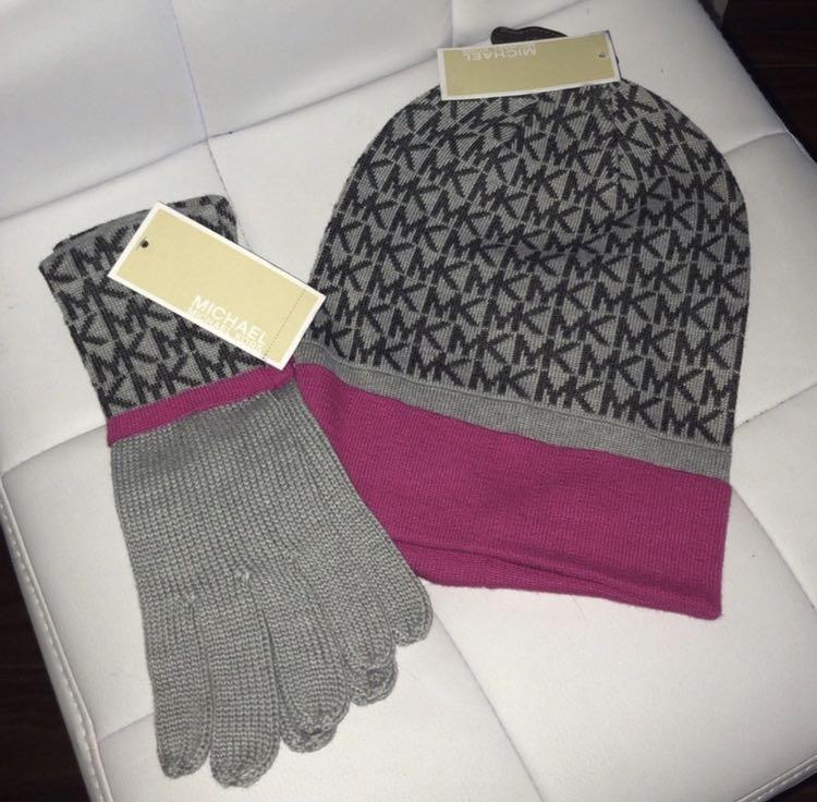 Michael Kors Hat + Mittens