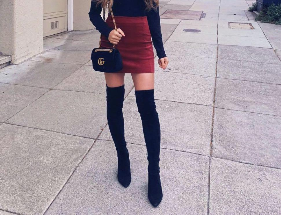 over the knee boots - call it spring