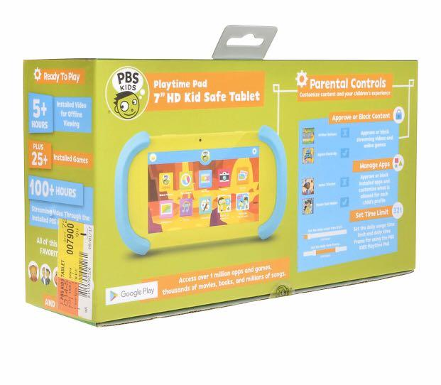 """PBS KIDS Playtime Pad+ 7"""" HD Kid-Safe Android Tablet + Live TV (PBSKD7200) - 2nd Generation"""