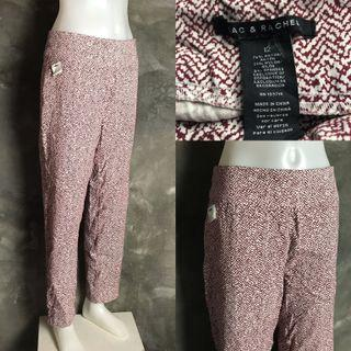 Red and White Garterized Pants
