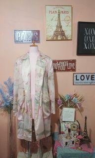 River island blush pink long blazer