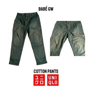 UNIQLO Celana Cotton Pants Hijau