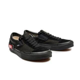 Vans全黑棋盤格懶人鞋穆勒帆布鞋 Slip On Cap