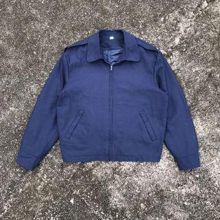 Work Jacket Cotton Poly Navy 2 Layer