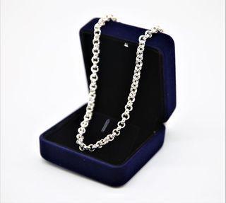 925 純銀水泡圈扣頸鏈 925 Cable Chain Sterling Silver Necklace